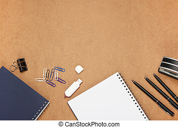 Office supplies - Still life, business, education concept....