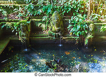 Temple Fountain in Monkey forest, Ubud, Bali