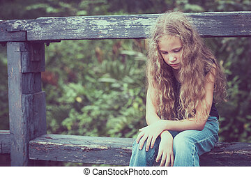 十代, 肖像画, ブロンド, 悲しい