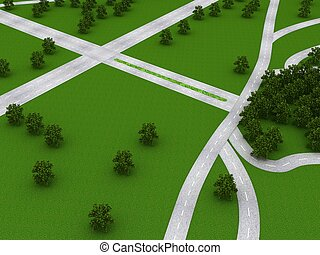 Roads 3D Object Series
