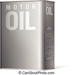 Realistic metal containers for motor oil Product Packing...