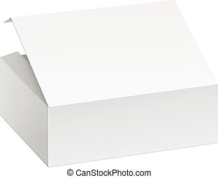 Package Box For electronic device - Realistic White Package...