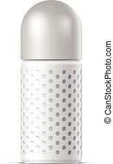 Realistic White Cosmetics bottle can Spray, Deodorant, Air...