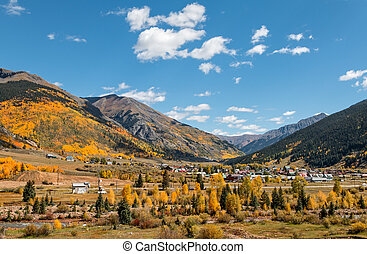 Silverton Colorado in Fall - the scenic mountain landscape...