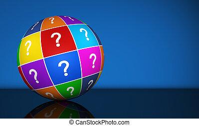 globo, pergunta, marca