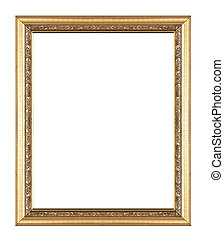 Picture frame gold wood frame