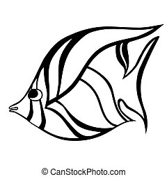 Fish - stylized Fish Hand Drawn doodle vector illustration...