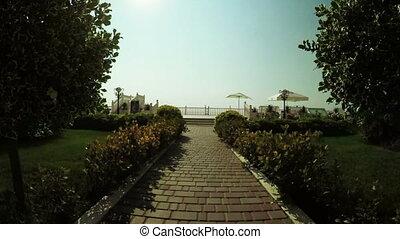 Balustrade sea - Near coast of Black Sea curly railing