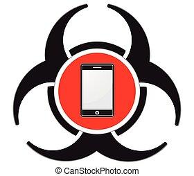 Mobile virus vectorSmartphone protection vector icon