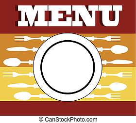 menu cutlery - Menu cutlery vector illustrationKitchen...