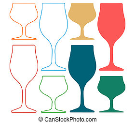 Alcoholic Glass Silhouette Silhoutte - Alcoholic Glass...