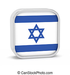Israel flag sign - Israel flag sign on a white background...