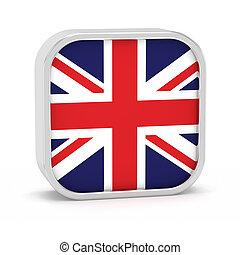 United Kingdom flag sign - United Kingdom flag sign on a...