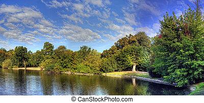 Lake shore - panoramic sweeping view