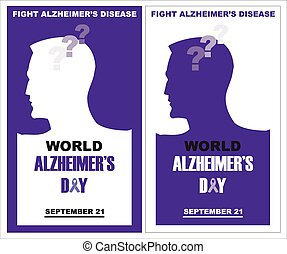 World Alzheimers day, September 21 - template design for...