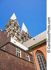St Petri Cathedral, Bremen - Bremen, Germany - June 7, 2014:...