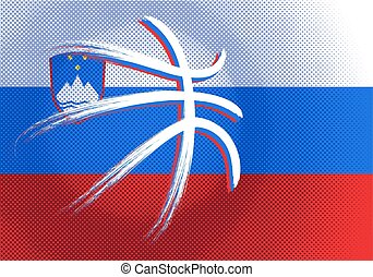 Slovenian basketball, vector