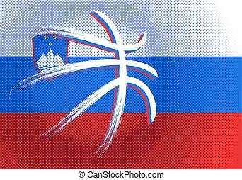 Slovenian basketball, vector