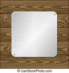 plaque - silver plaque on dark board