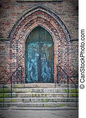 Maria Kyrka Church Door - A side entrance doorway Sankta...