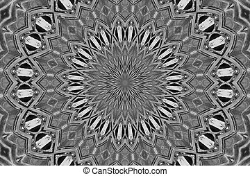 Black and white star burst