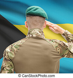 fuerzas, serie, nacional, -, Bahamas, bandera, Plano de...