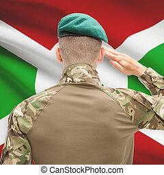 fuerzas, serie, nacional, -, conceptual, bandera, Plano de...