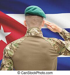 fuerzas, Cuba, serie, nacional, -, bandera, Plano de fondo,...
