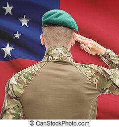 nazionale, militare, forze, con, bandiera, su, fondo,...