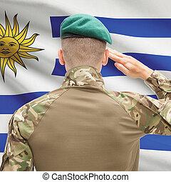 fuerzas, Uruguay, serie, nacional, -, bandera, Plano de...