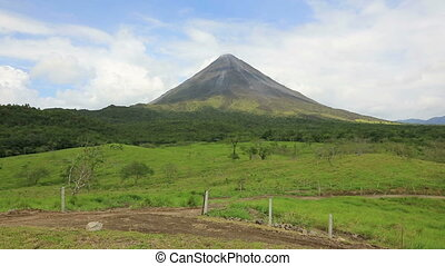 Volcano Arenal in Costa Rica - Panoramic view of volcano...