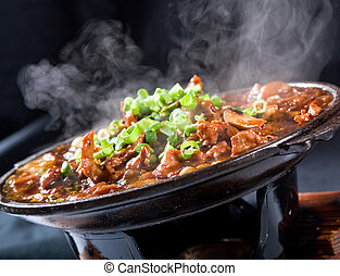 stew meat - chinese style steaming stew meat with vegetable