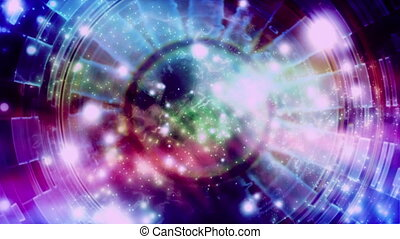 Circle Multi Particle Loop abstract - Backdrop CG Circle...