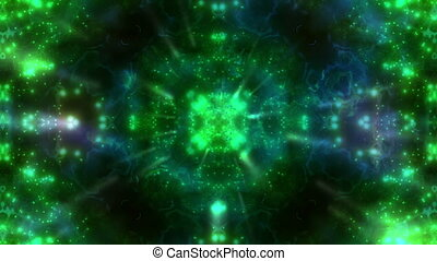 Green Particle VJ Strobe Loop - Animated Green Particle VJ...