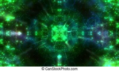 Green Particle VJ Strobe Loop