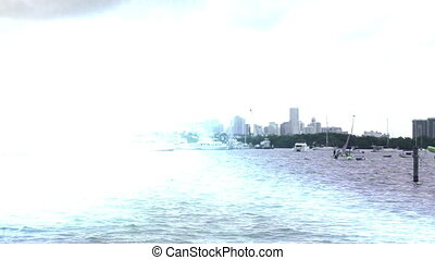 Miami Florida Skyline Abstract - Florida Miami Ocean Skyline...