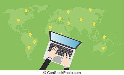 ricerca, trovare, o, locali, linea