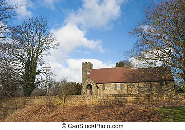 Old church in English rural village