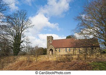 Old church in English rural village