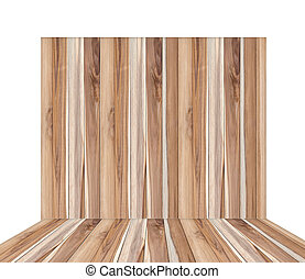 Wooden wall on a white background.