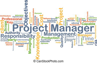 Project manager background concept - Background concept...