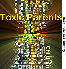 Toxic parents background concept glowing - Background...
