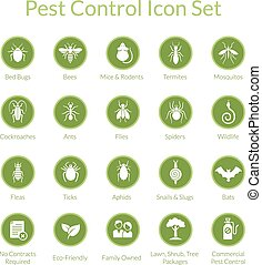 Pest Control Icon set - Vector icon set with insects like...