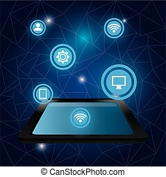 Technology digital design.