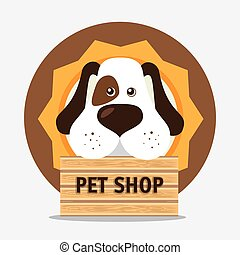 Pet shop design. - Pet shop design, vector illustration eps...