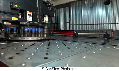 View of work machine for punching metal