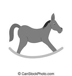Rocking horse - Horse, riding, race icon vector imageCan...