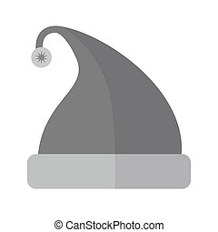 Bonnet - Santaclaus, party, cap icon vector image.Can also...