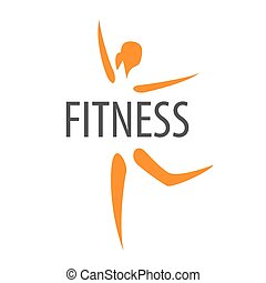 vector logo for the dancing girl of fitness club