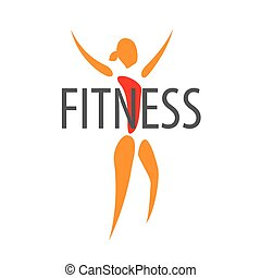 vector logo figure of the girl for a fitness club